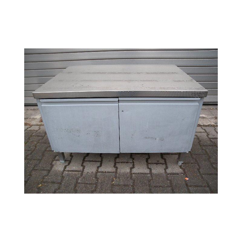 hilbinox unterschrank ca 110 cm breit mit doppelt r edelstahl. Black Bedroom Furniture Sets. Home Design Ideas